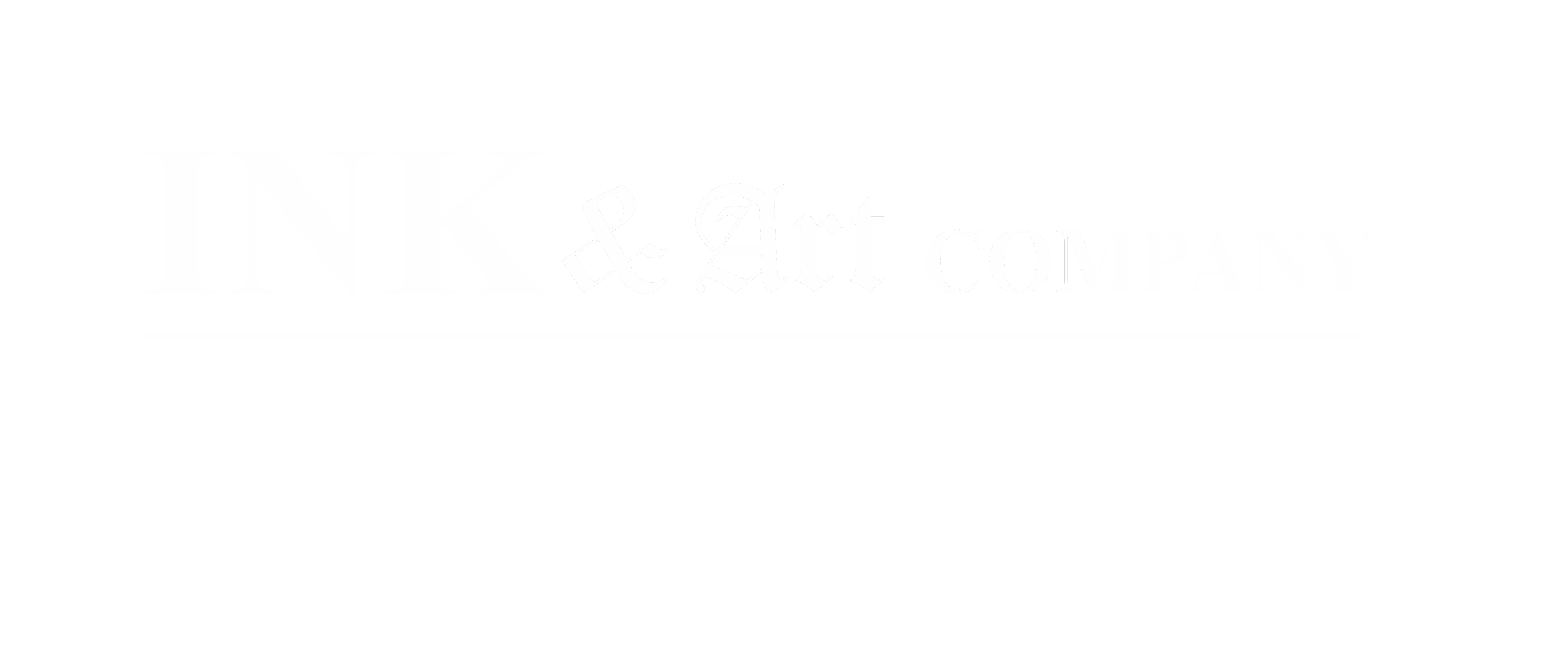 Logo Ink & Art Company wit